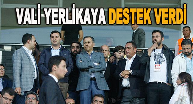 Yerlikaya futbolculara destek verdi