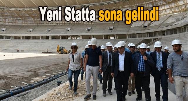 Ergün Turan Stad da incelemelerde bulundu