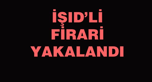 CEZAEVİ FİRARİSİ IŞİD'Lİ GAZİANTEP'TE YAKALANDI