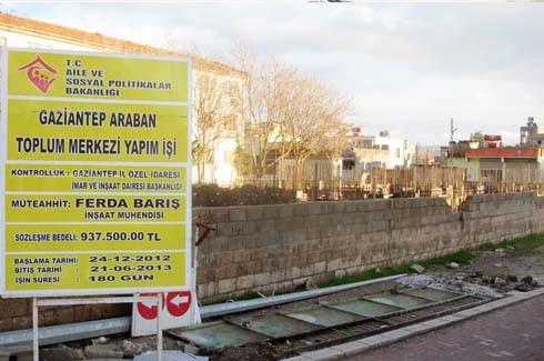 Araban'a toplum merkezi