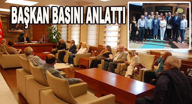 Vali ve Şahin Konseye yerel basını konuştu
