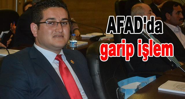 AFAD'da garip işlem