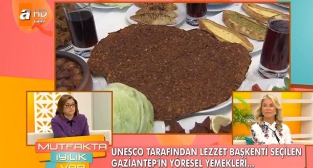 Fatma Şahin yemek programında