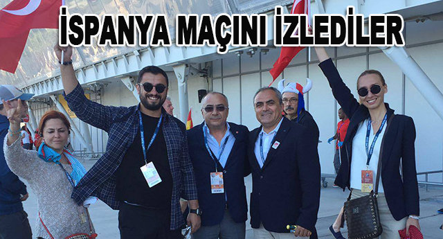 Gaziantepspor yönetimi Türk milli takımının maçını izledi