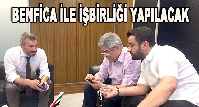 Benfica ekibi ile bir araya geldiler