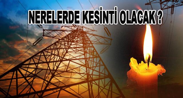 Bayram öncesi elektrik kesintisi