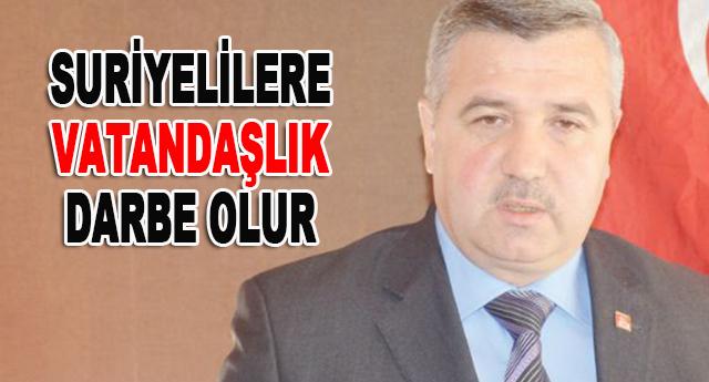 Türkiye'nin iç huzuruna ve barışına darbe olacağını söyledi