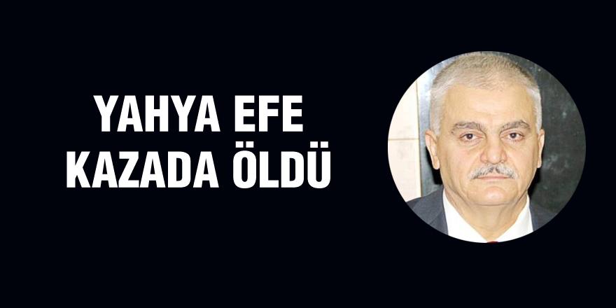 Yahya Efe kazada öldü