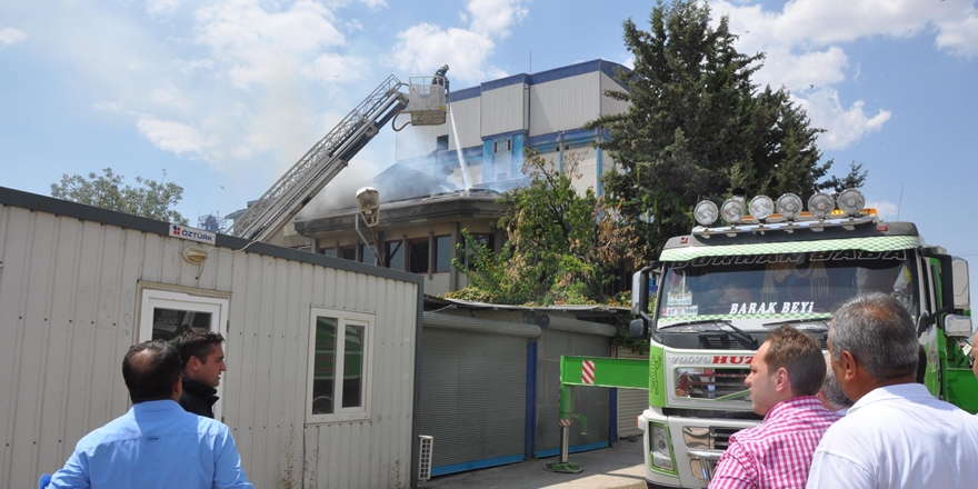 Yem fabrikasında korkutan yangın