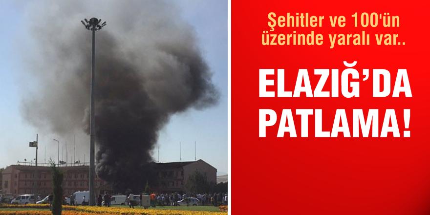 Elazığ'da şiddetli patlama