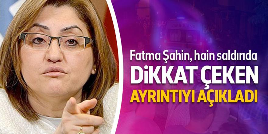 Fatma Şahin'den dikkat çeken ayrıntı