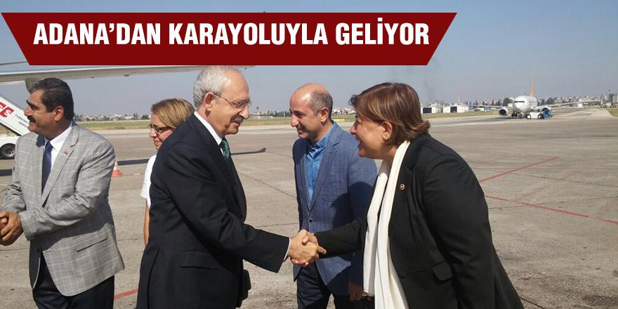 Adana'dan karayoluyla geliyor