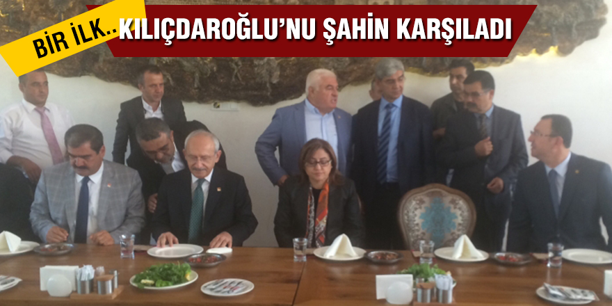 Kılıçdaroğlu'nu Şahin karşıladı