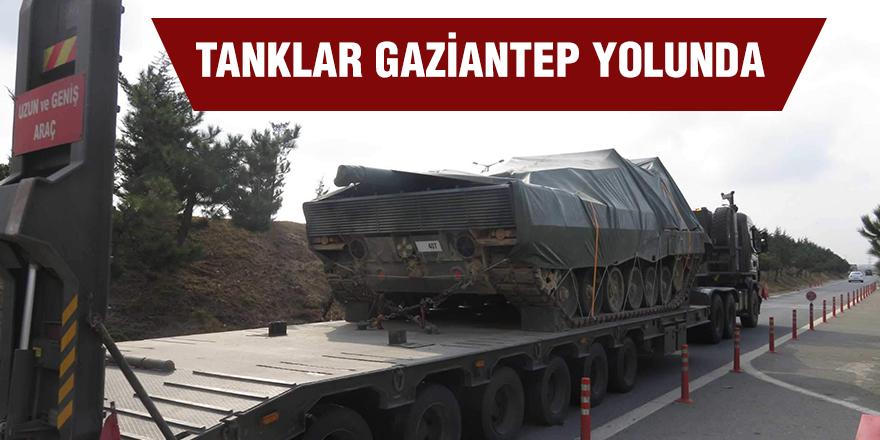 Tanklar Gaziantep yolunda