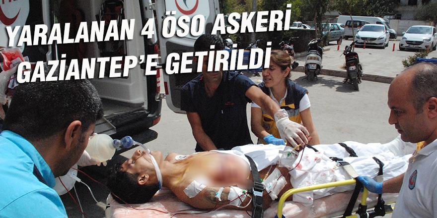 Sınırda yaralanan 4 ÖSO askeri Gaziantep'e getirildi