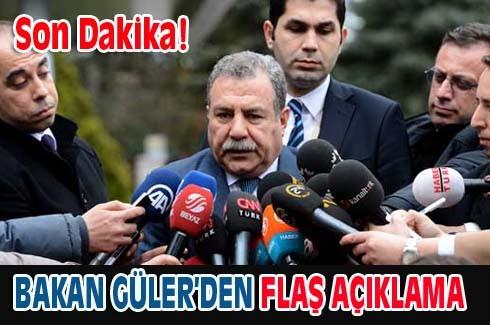Bakan Güler'den Flaş açıklama