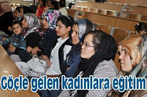 Göçle gelen kadınlara eğitim