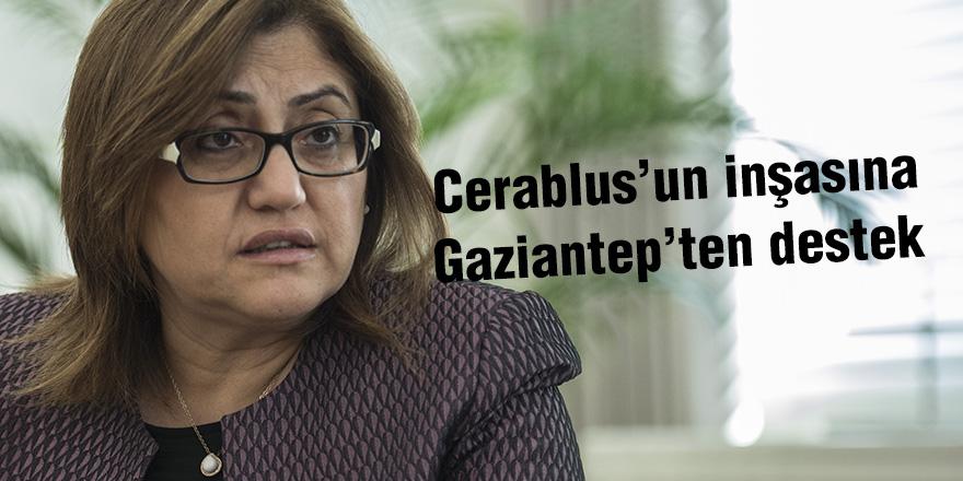 Cerablus'un inşasına Gaziantep'ten destek