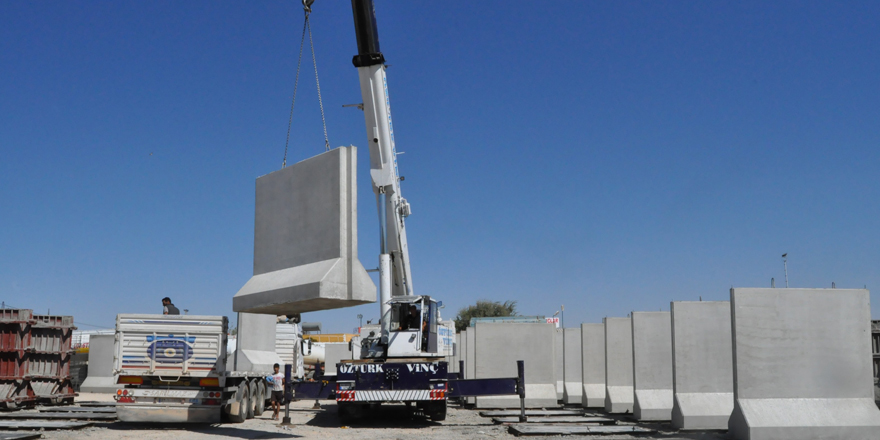 Betonlar Nizip'te üretiliyor