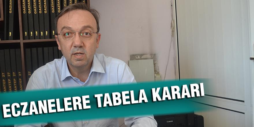 ECZANELERE TABELA KARARI