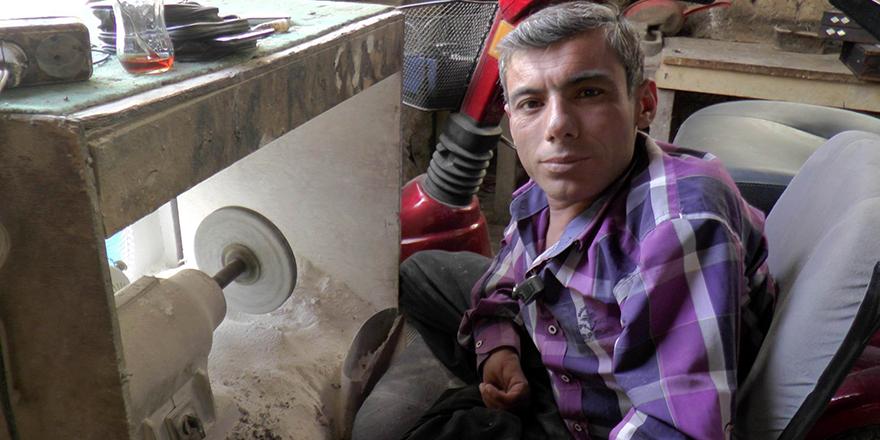 Gaziantep'in tek kollu sedef ustası hayatını kaybetti
