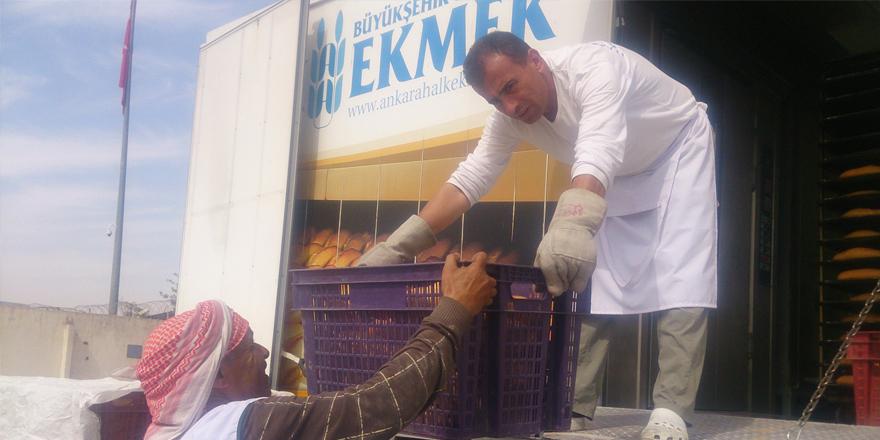 Cerabluslulara Ankara'dan ekmek