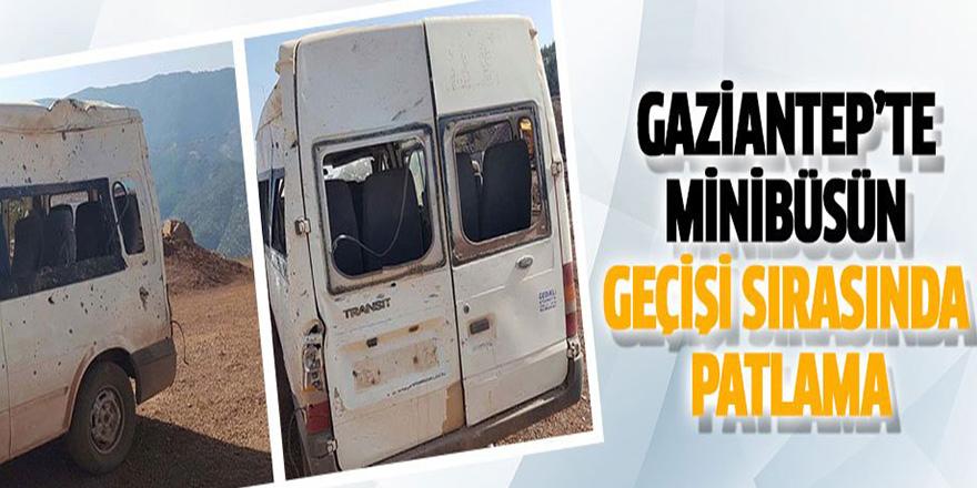 Gaziantep'te Minibüsün Geçişi Sırasında Patlama