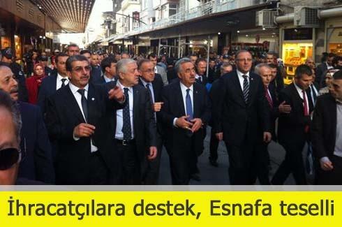 İhracatçılara destek, Esnafa teselli