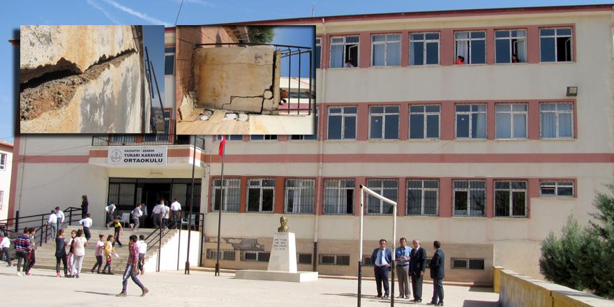 Bu okul çökme tehlikesi yaşıyor