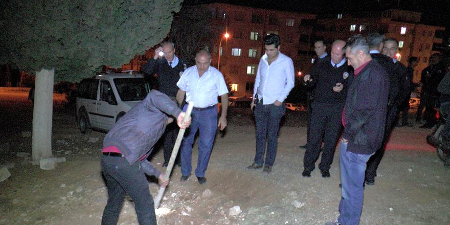 Polis mezar için alarma geçti