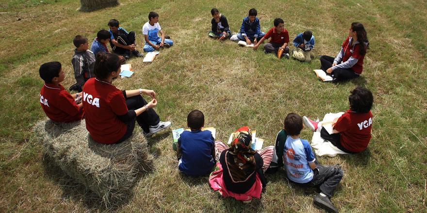 Muhtaç çocuklar liderlik atölyesinde