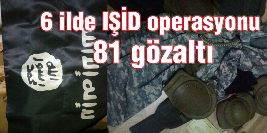 6 ilde IŞİD operasyonu: 81 gözaltı