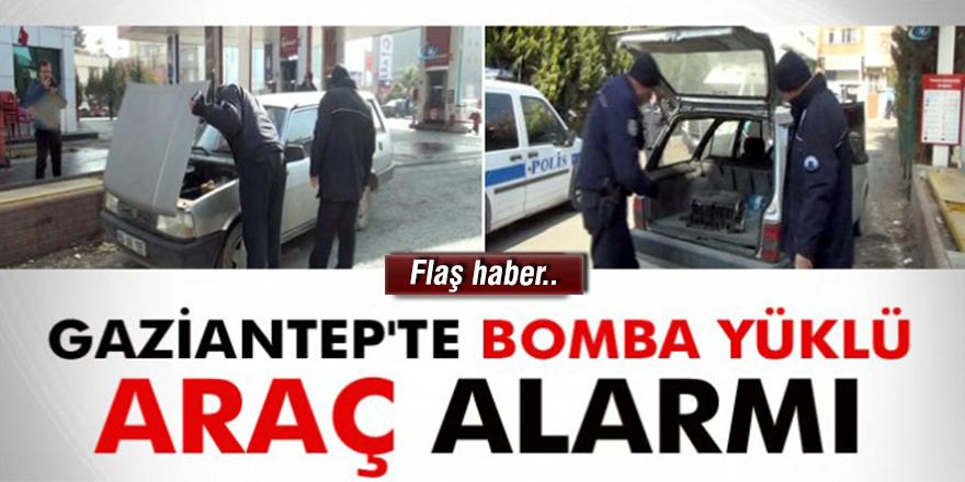 Gaziantep'te bomba yüklü araç alarmı