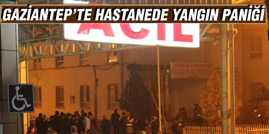 Gaziantep'te hastanede yangın paniği