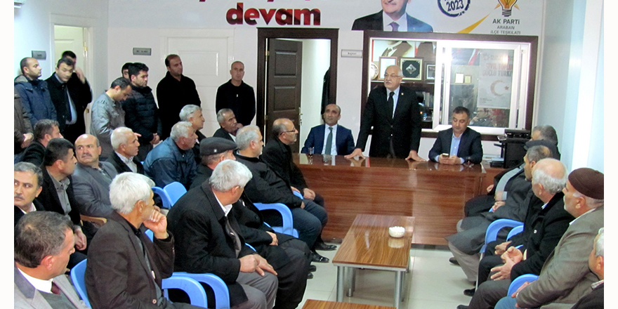 Milletvekili Erdoğan AK Parti İlçe Teşkilatını ziyaret etti