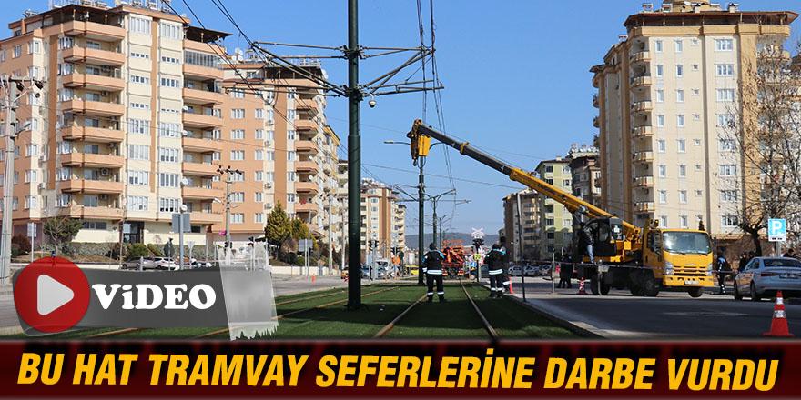 BU HAT TRAMVAY SEFERLERİNE DARBE VURDU