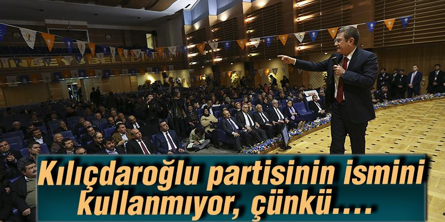 Kılıçdaroğlu partisinin ismini kullanmıyor, çünkü….