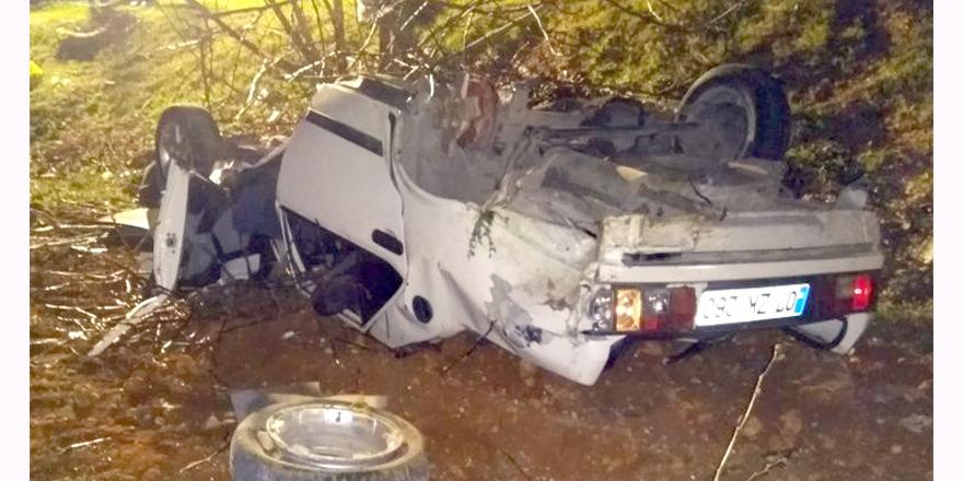 Düğün dönüşü kaza: 1 ölü