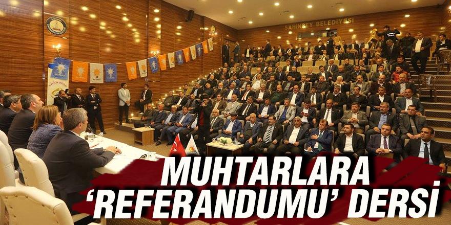 MUHTARLARA 'REFERANDUMU' DERSİ
