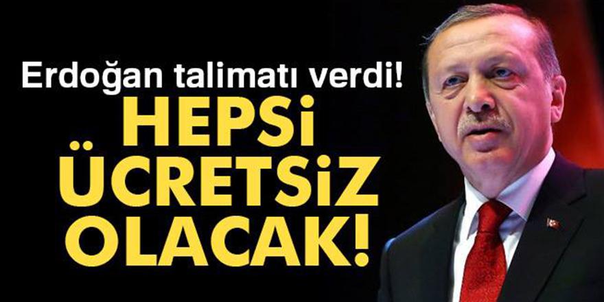 Erdoğan talimat verdi!