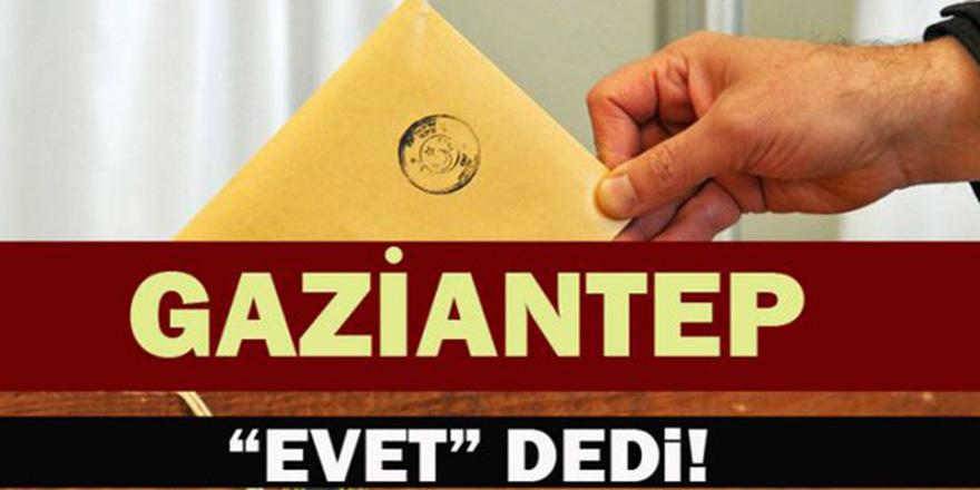 İşte Gaziantep'de Referandum Sonucu