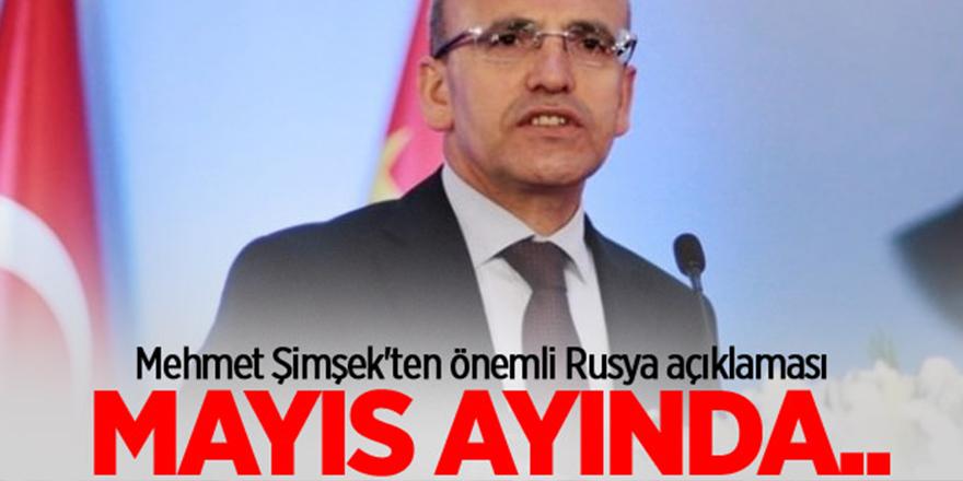 Mehmet Şimşek'ten Rusya açıklaması