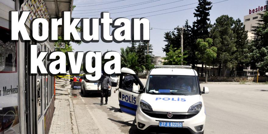 Polis merkezi yakınında kavga