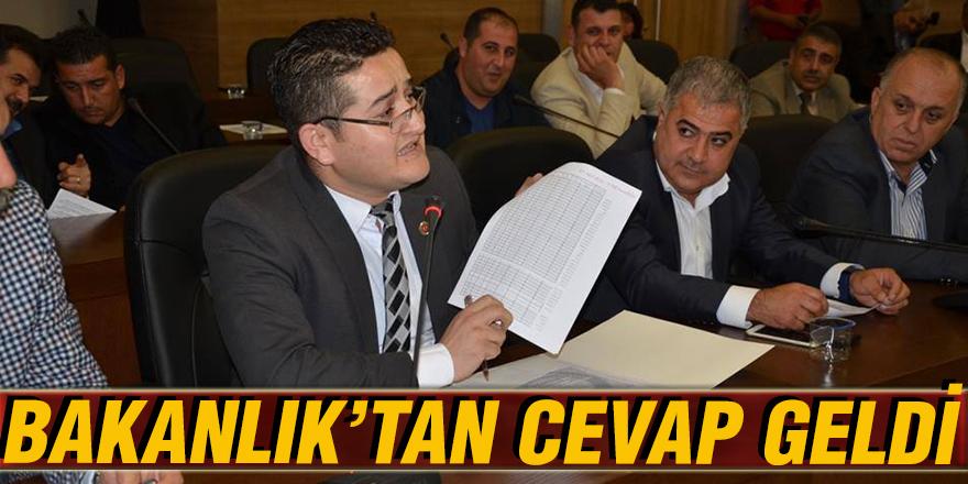 BAKANLIK'TAN CEVAP GELDİ