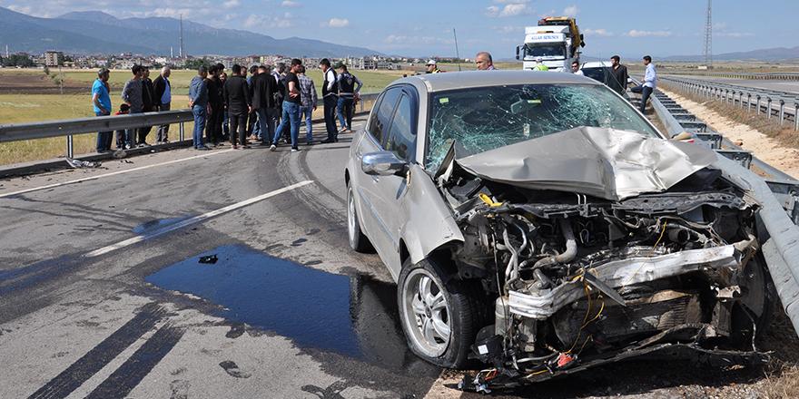 Çevre yolunda korkutan kaza