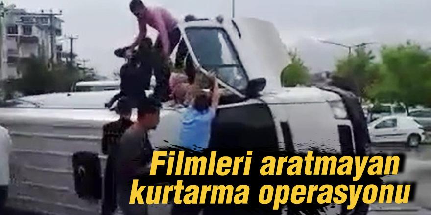 Filmleri aratmayan kurtarma operasyonu