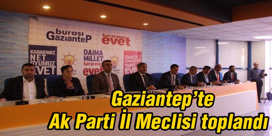 Gaziantep'te Ak Parti İl Meclisi toplandı