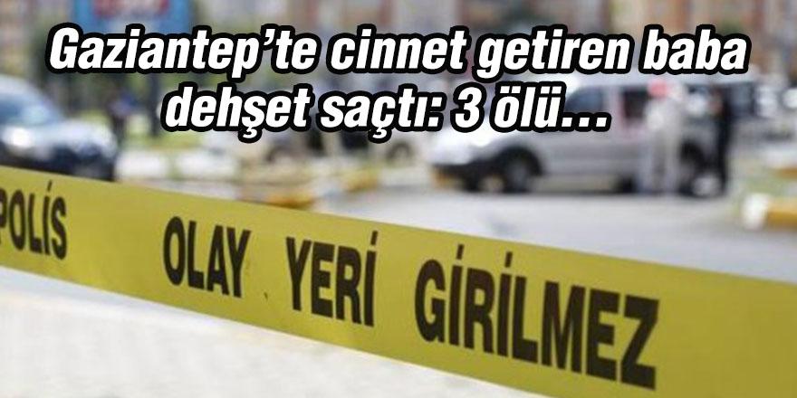 Gaziantep'te cinnet getiren baba dehşet saçtı: 3 ölü...