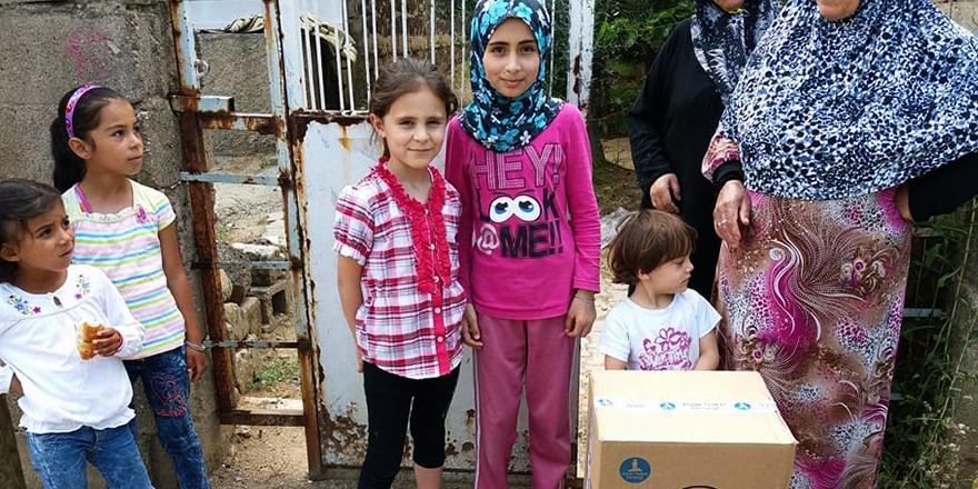 Suriyeli yoksullara yardım
