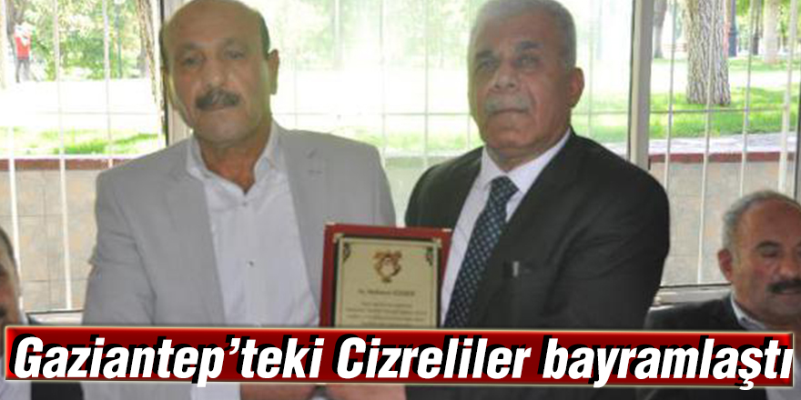 Gaziantep'teki Cizreliler bayramlaştı